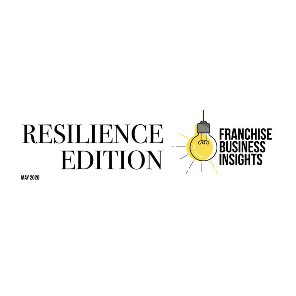 Logo for 'Franchise business insights' with icon of yellow bulb on the right